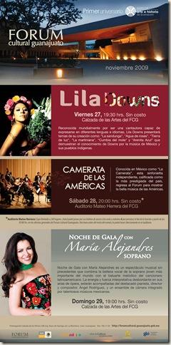 Conciertos Gratis en el Fórum Guanajuato