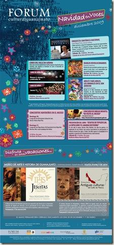 Fórum Guanajuato: Cartelera Diciembre 2009