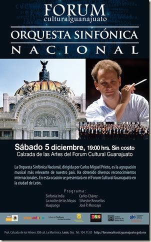 Orquesta Sinfónica Nacional en el Fórum