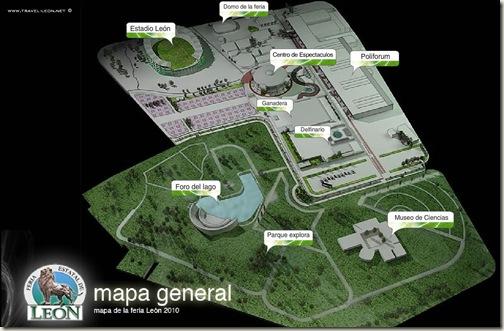 Mapa de la Feria de Leon 2010