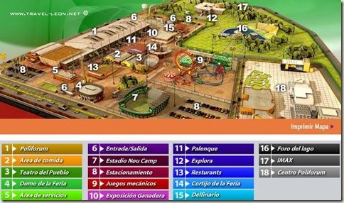 Mapa de la Feria de León 2010
