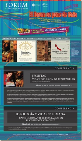 Fórum Guanajuato: Cartelera Enero 2010