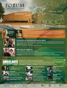 Fórum Guanajuato: Cartelera Febrero 2010