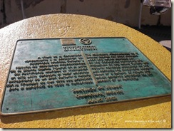 Placa de la Unesco en Jalpan