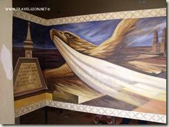 Mural de un Aguila en el Museo de la Independencia en Dolores Hidalgo