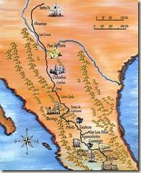 Mapa del Camino Real de Tierra Adentro