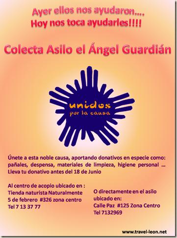 """Colecta a favor del Asilo """"El Ángel Guardián A.C."""""""