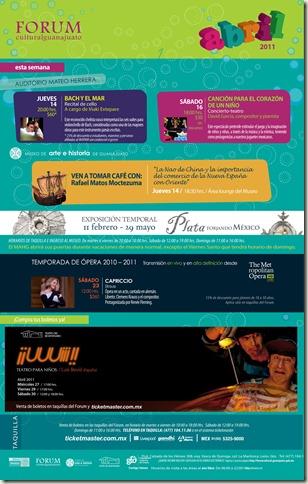 FCG: Eventos del 14 al 17 de Abril del 2011