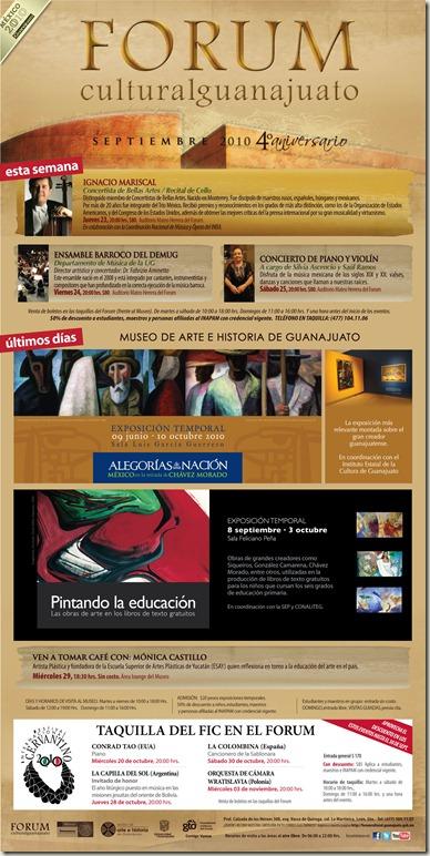 FCG: Eventos del 23 al 25 de Septiembre del 2010