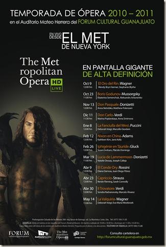 Temporada de Opera en el Fórum Cultural Guanajuato 2010-2011