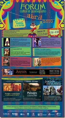 Fórum Guanajuato: Cartelera Abril 2010