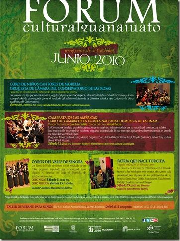 Fórum Guanajuato: Cartelera Junio 2010