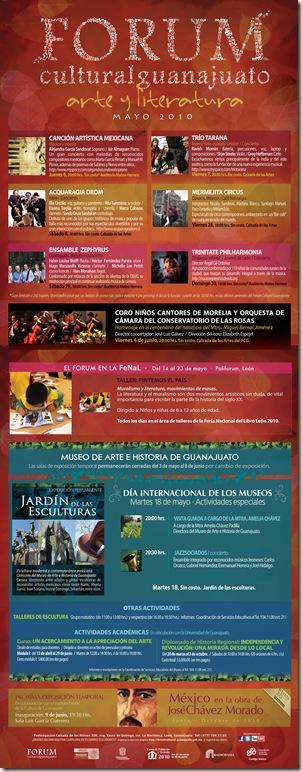 Fórum Guanajuato: Cartelera Mayo 2010
