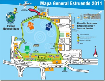 Mapa Festival Estruendo Leon 2011