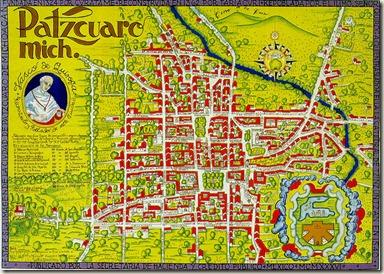 Mapa de Patzcuaro de 1986