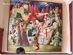 Pintura de la Toma de la Alhondiga, ubicada en el Museo de la Independencia en Dolores Hidalgo, Guanajuato