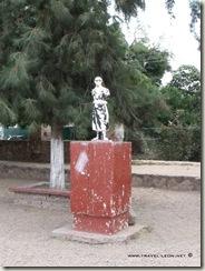 Escultura de Miguel Hidalgo en Hacienda de Burras