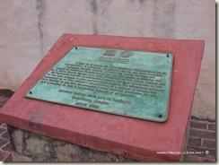 Placa de la Unesco en Tancoyol