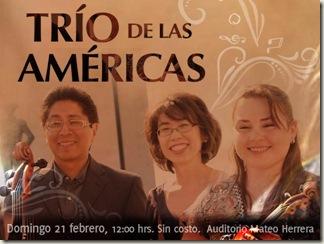 Trio de las Américas en el Fórum
