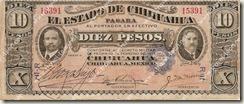 """Billete Villista: """"Dos Caritas"""" de veinte pesos"""