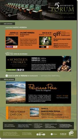 FCG: Eventos del 23 al 25 de Septiembre 2011