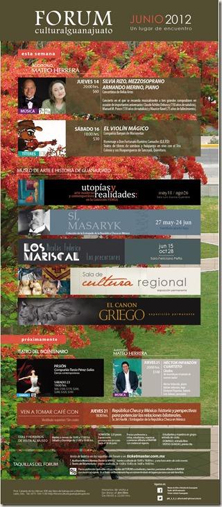 Fórum Guanajuato: Cartelera Junio 2012