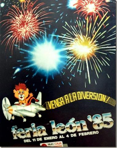 Cartel de la Feria de Leon 1985