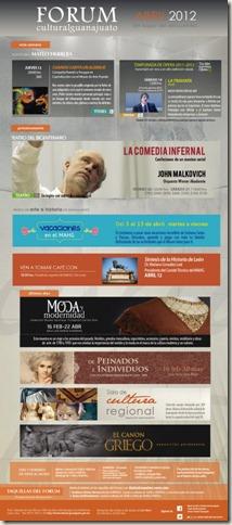 Fórum Guanajuato: Cartelera Abril 2012
