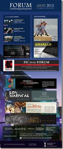 Fórum Guanajuato: Cartelera Julio 2012
