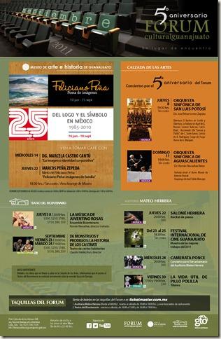 Fórum Guanajuato: Cartelera Septiembre 2011