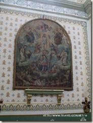 pintura antigua en la Iglesia de Cañada de Negros