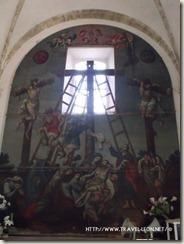 Pintura antigua en la Sacristía de la Iglesia de Cañada de Negros