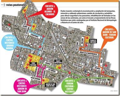 Las Proximas 5 Rutas Peatonales en Leon, Guanajuato