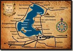 Mapa Lago de Patzcuaro