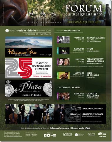 Fórum Guanajuato: Cartelera Junio 2011
