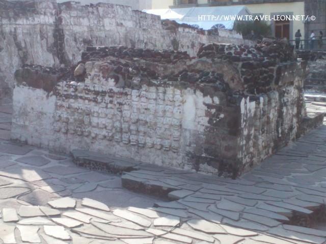 Altar Tzompantli en Templo Mayor