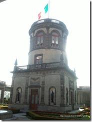El torreón del Alcázar de Chapultepec