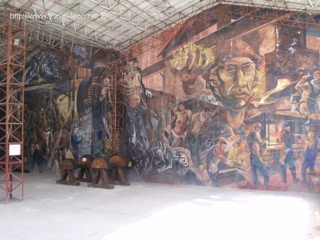 Mural en Mina Dos Estrellas