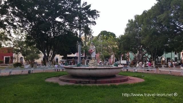 La Fuente de La Mestiza en Valladolid, Yucatán