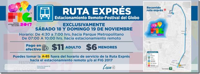 Ruta Express al Festival del Globo