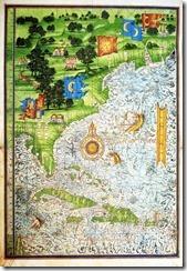 Mapa de Florida de Guillaume Le Testu, 1555